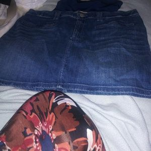 Hollister Skirt and maternity shorts